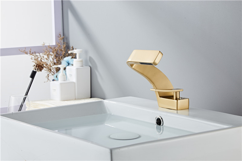 H7a7b4f9991664162b9cc3814fc647245u Tuqiu Basin Faucet Modern Black Bathroom Mixer Tap Brushed Gold/Nickel/Chrome Wash basin Faucet Hot and Cold Sink Faucet New