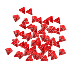 60 Pieces D4 Dice Polyhedral, Set DND Game, Tabletop RPG Red Acrylic
