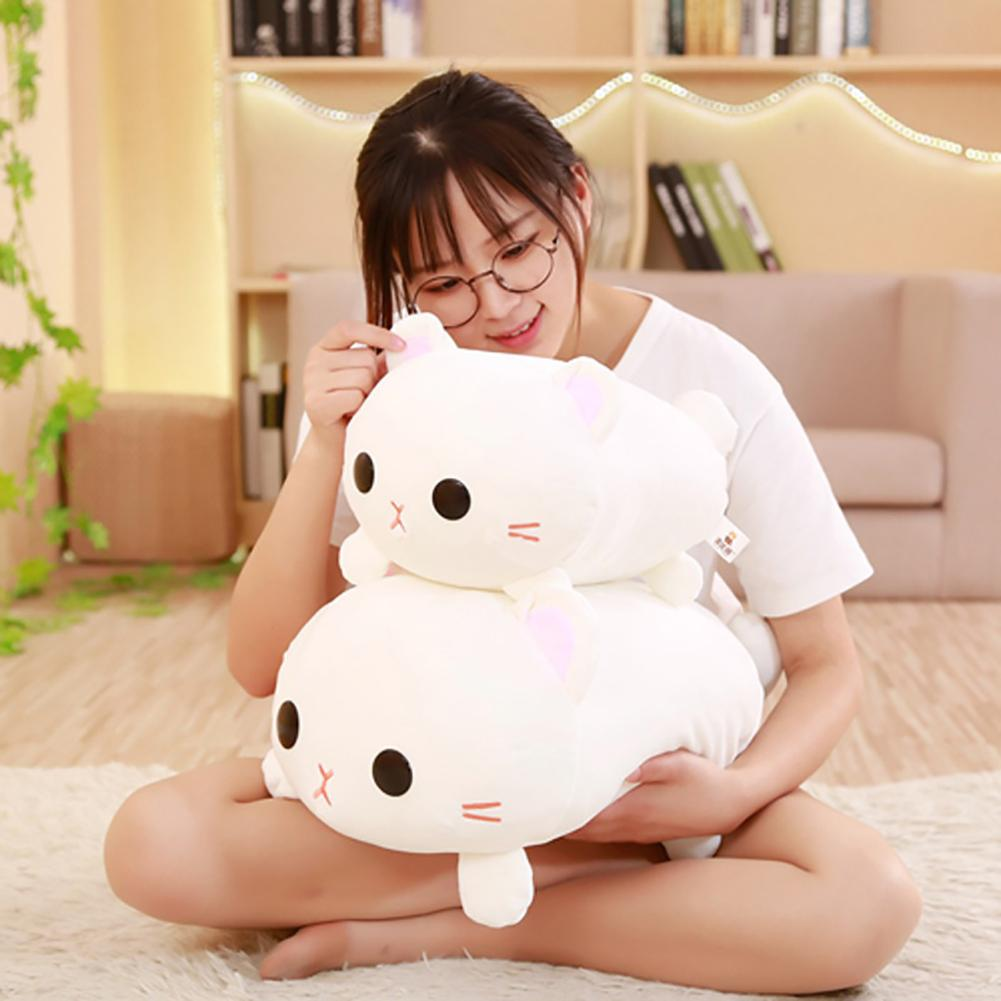 Lovely Lying Cat Plush Stuffed Soft Doll Hugging Cushion Sofa Decor Girls Gift Kid's Party Plush TOY  Bouquet Plush Dolls