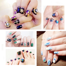 Nail Sticker Set Starry Colorful Laser Series Art Design Nail Art Decorations Christmas Halloween Theme Nail Sticker Manicure nail sticker starry sky nail sticker set christmas halloween theme design nail decals wraps sliders nail art manicure