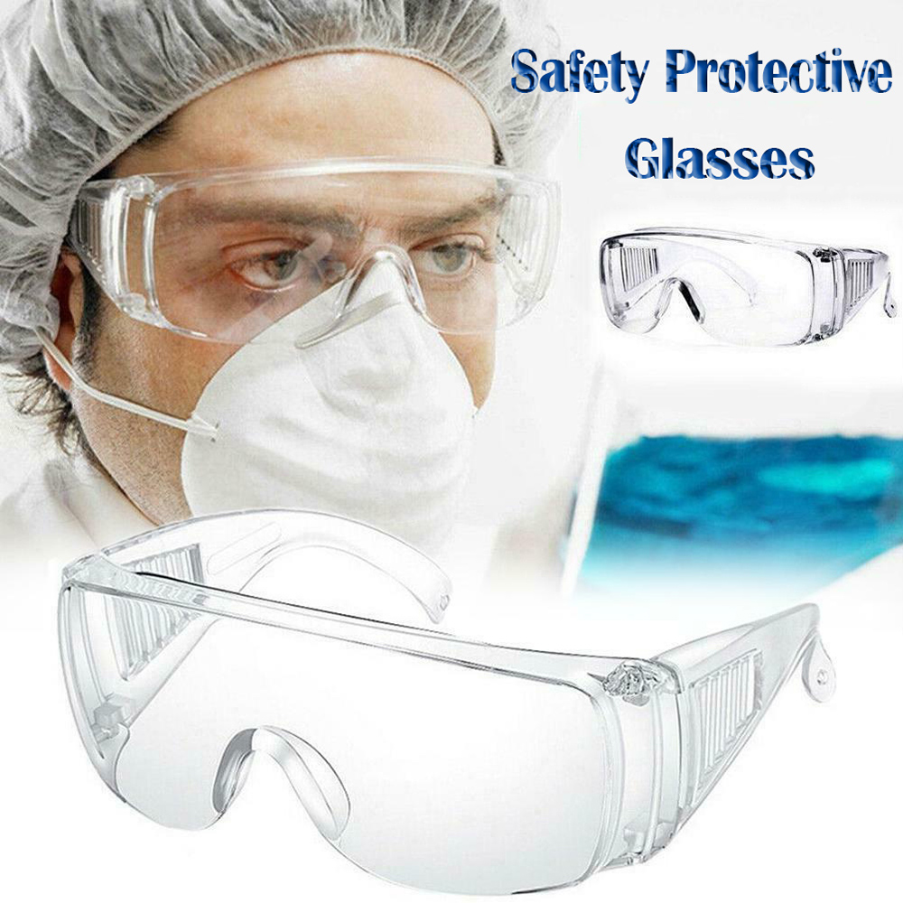 Safety Eye Protection Glasses Anti Dust Protective Saliva Fog Eyewear Professional Clear Goggles Prepper D40