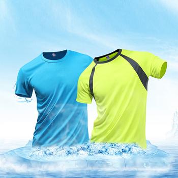 Męskie koszulki do biegania szybka kompresja na sucho koszulki sportowe Fitness Gym koszulki do biegania koszulki piłkarskie męska koszulka sportowa tanie i dobre opinie HORMETCI Daily SHORT CN (pochodzenie) NYLON Z OCTANU summer SPORTS Z okrągłym kołnierzykiem tops Z KRÓTKIM RĘKAWEM