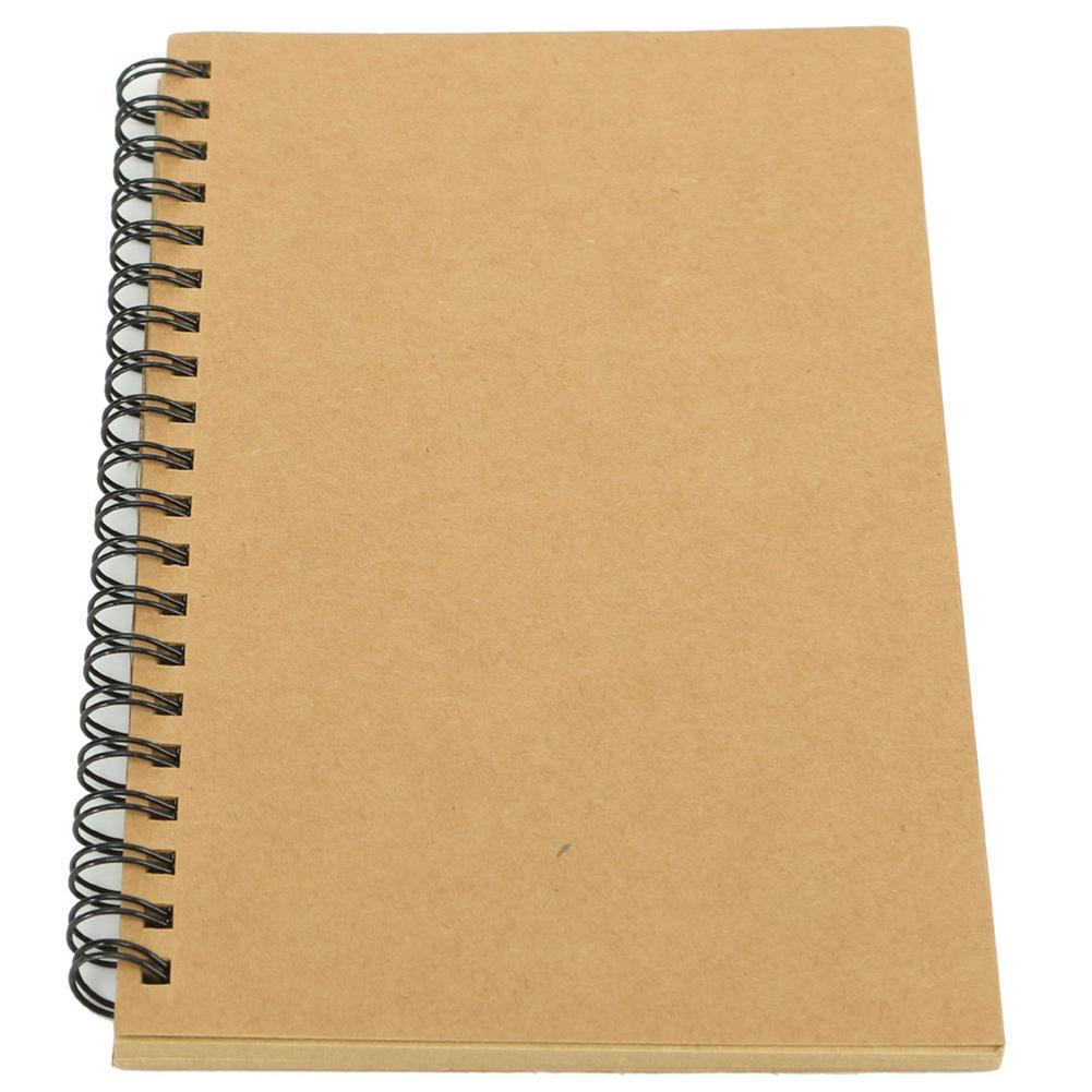 New Retro Kraft Spiral Binding Blank Graffiti Sketchbook Notebook Graduation Gift