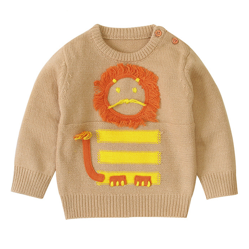 Kids Baby Boys Sweaters Cartoon Knitted Pullover Casual Long Sleeve Children's Tops Toddler Boy Clothes Baby Girl Clothes 1