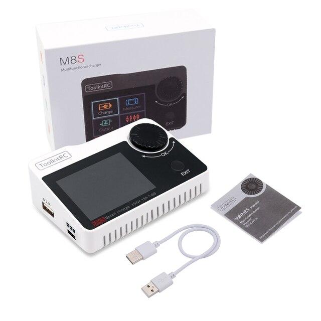 Toolkitrc M8S M8 Batterij Multifunctionele Oplader Ontlader Kleur Scherm 300W 15A 400W 18A Voor 1 8S lipo Lihv Leven Leeuw Nimh Pb