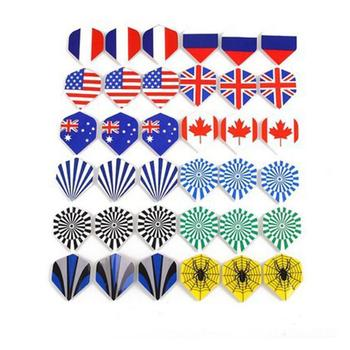60 Cool Standard Dart Flights Nice Darts Flight Dardos Outdoor Tail Feather Pattern Wing Mixed P3A1 image