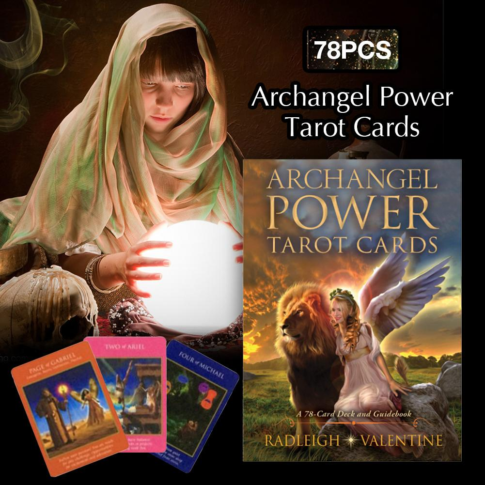 78 Archangel Power Tarot Cards Deck Table Game Cards Family Holiday Party Playing Cards English Tarot Game Cards Board Games Set