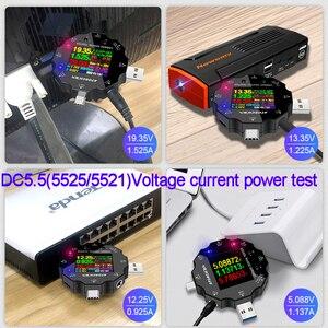 Image 3 - DC5.5 USB 3.0 סוג C 18 ב 1 USB tester DC דיגיטלי מד מתח חשמל בנק מטען מתח הנוכחי מד זרם גלאי QC/PD3.0 מטר