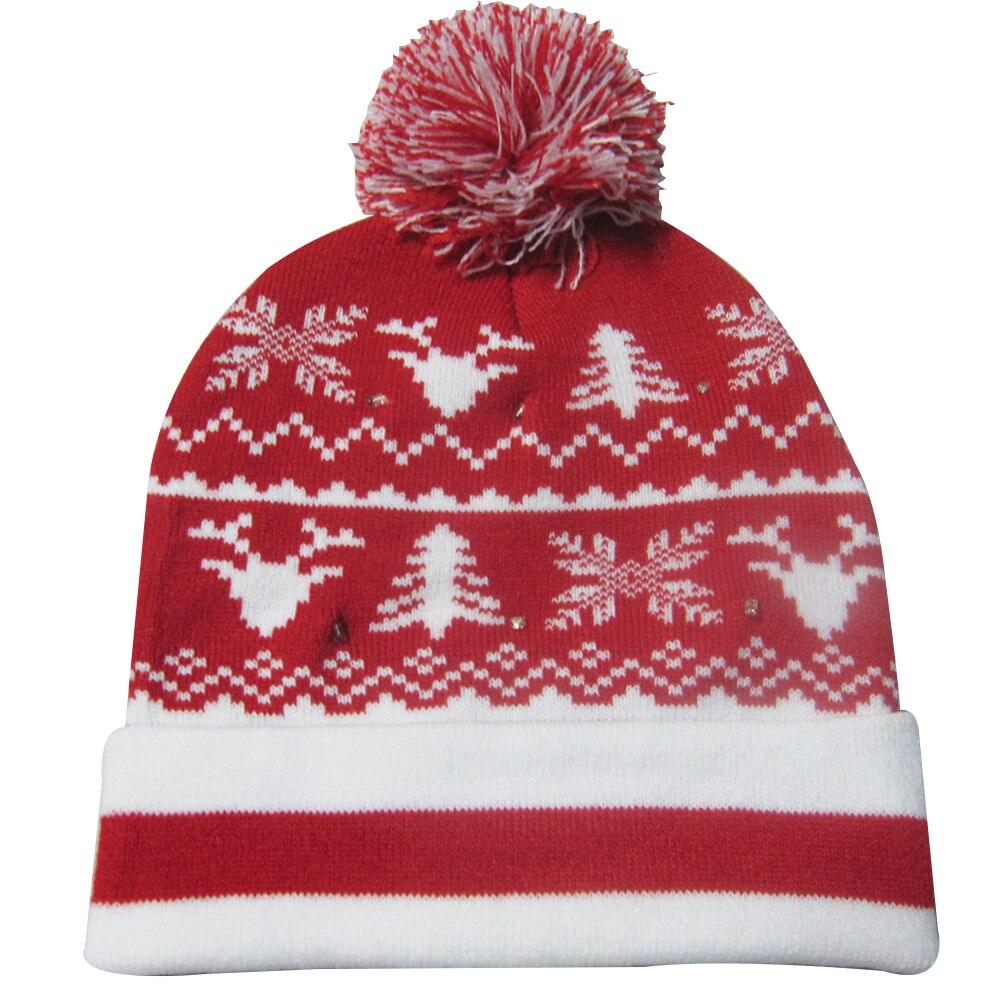 Г., 43 дизайна, светодиодный Рождественский головной убор, Шапка-бини, Рождественский Санта-светильник, вязаная шапка для детей и взрослых, для рождественской вечеринки - Цвет: 40