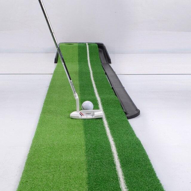 Pgm 2.5 M/3 M Golf Putting Zerbino Allenatore Allenamento di Golf Putter Green Putter Tappeto Pratica Set Sfera di Ritorno Mini golf Putting Green Fairway 5