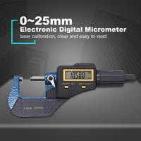 Elektronische Außerhalb Mikrometer 0 25mm/0 001mm LCD Digital Manometer Messschieber Meter Hartmetall Spitze Mess Werkzeuge-in Mikrometer aus Werkzeug bei