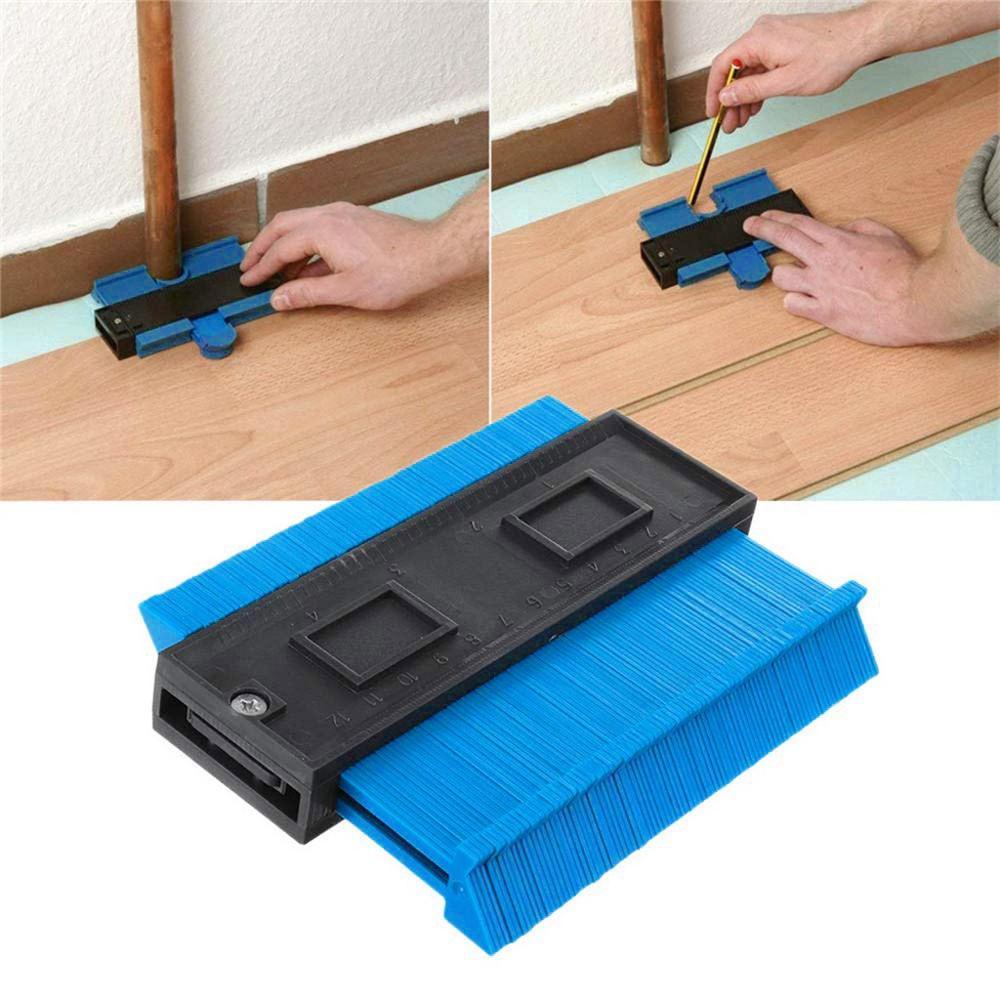 plastic-gauge-contour-profile-copy-gauge-duplicator-standard-4-inch-width-wood-marking-tool-tiling-laminate-tiles-general-tools