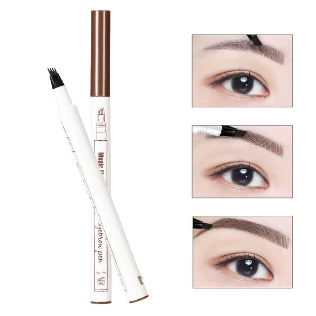 1 PCS 4 Arrow Heads Microblading Liquid Eyebrow Pencil Waterproof Sharp Tips Eye Brow Pencils Eye Liner Beauty Makeup Tools