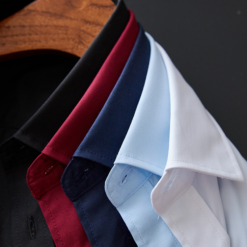 Men French Cufflinks Shirt 2020 New Men's Shirt Long Sleeve Casual Male Brand Shirts Slim Fit French Cuff Dress Shirts