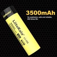 8-40PCS LiitoKala Lii-35S nuovo 18650 Battery3.7V Li-ion 3500mAh batteria al litio per torcia a LED
