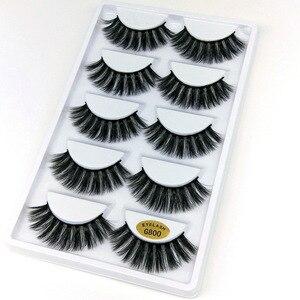 Image 1 - 5 Paar Natuurlijke Valse Wimpers Wimpers Eye Make Up 3D Mink Wimpers Wimper Extension Mink Wimper Beauty Tools G800