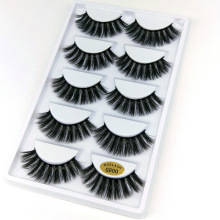 5 pairs natural false eyelashes lashes eye makeup 3D mink eye lashes eyelash extension mink eyelash beauty tools G800