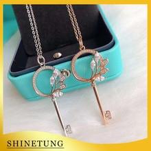 1: 1 Original Model 925 Heart Necklace Classic Fashion Key Pendant Necklace Ladies Jewelry Birthday Gift
