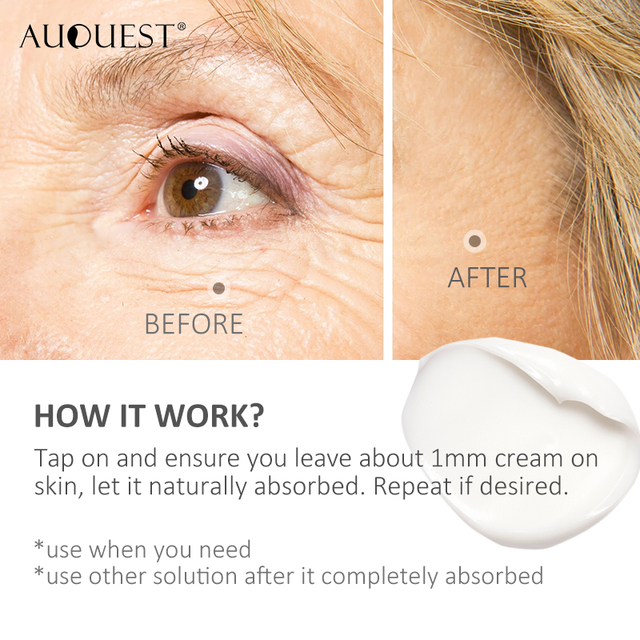 AuQuest 5 seconds Wrinkle Remover Puffy Eye Bags Firm Skin Lifting Peptide Anti Aging Day Cream Makeup Primer Makeup Base Beauty 3