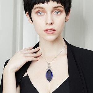 Image 5 - PANSYSEN 새로운 디자인 웨딩 브랜드 여성을위한 큰 Mariquesa 루비 사파이어 펜던트 목걸이 실버 925 쥬얼리 목걸이 파티 선물