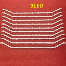 10 ชิ้น/ล็อต 9LED LED LED StripสำหรับSamsung UE32EH4000 LM41 00001R D3GE 320SM0 R2 BN96 27468A 28762A 35205A 35204A DF320AGH R3 R2