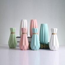 Europa mat proste ceramiczne wazon wystrępny dom porcelana szkliwione konopnej linie kwiat wazony dom ceramika dekoracja