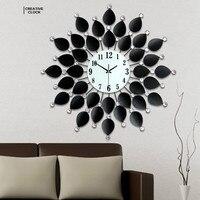 Estilo europeu tieyi relógio de parede criativo sala estar moderno simples quarto mudo relógio de parede quartzo
