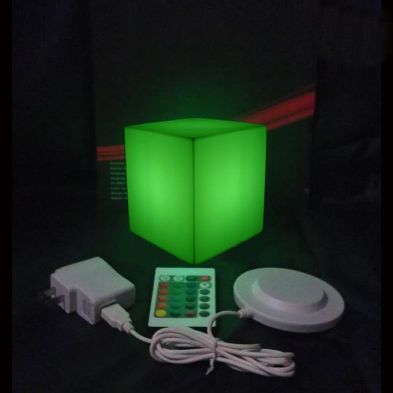 Купить с кэшбэком Garden Decoration furniture  Remote Control LED lighting Cube Stool D10cm  with 24 keys free shipping 4pcs/Lot