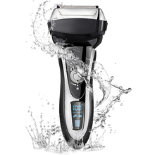 4 Blade Professional Men Shaver Rechargeable Electric Razor Wet & Dry For Men Beard Trimmer Shaving Machine LCD Display