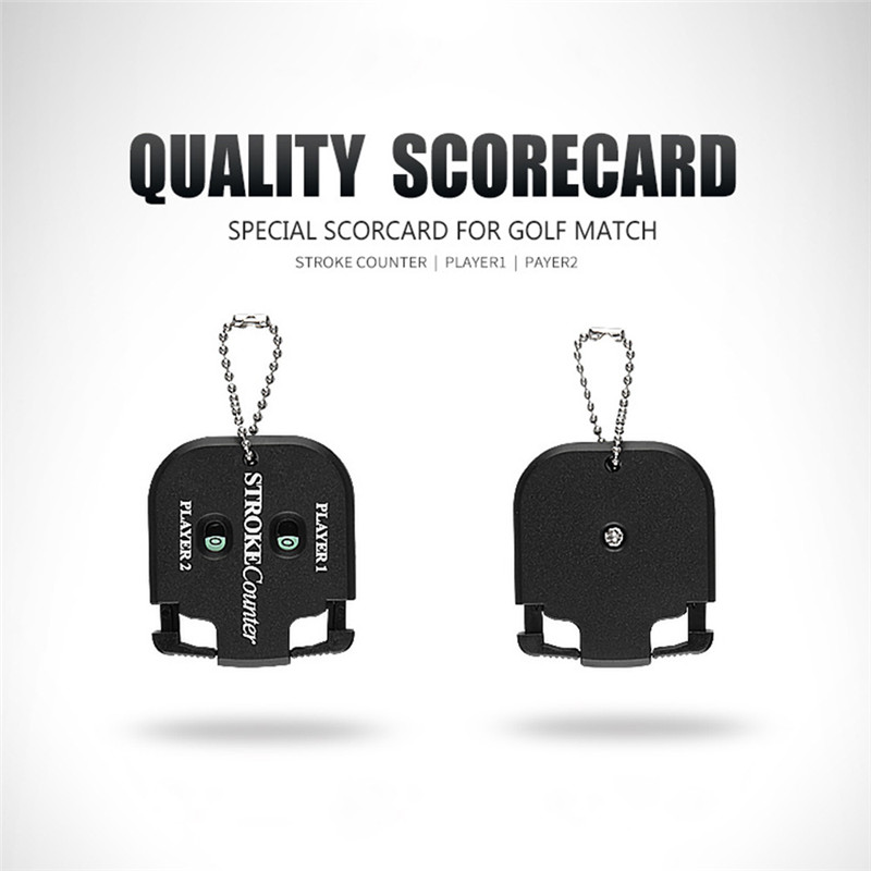 2PCS Mini Handy Golf Count Shot Stroke Putt Score Counter Two Digits Scoring Keeper