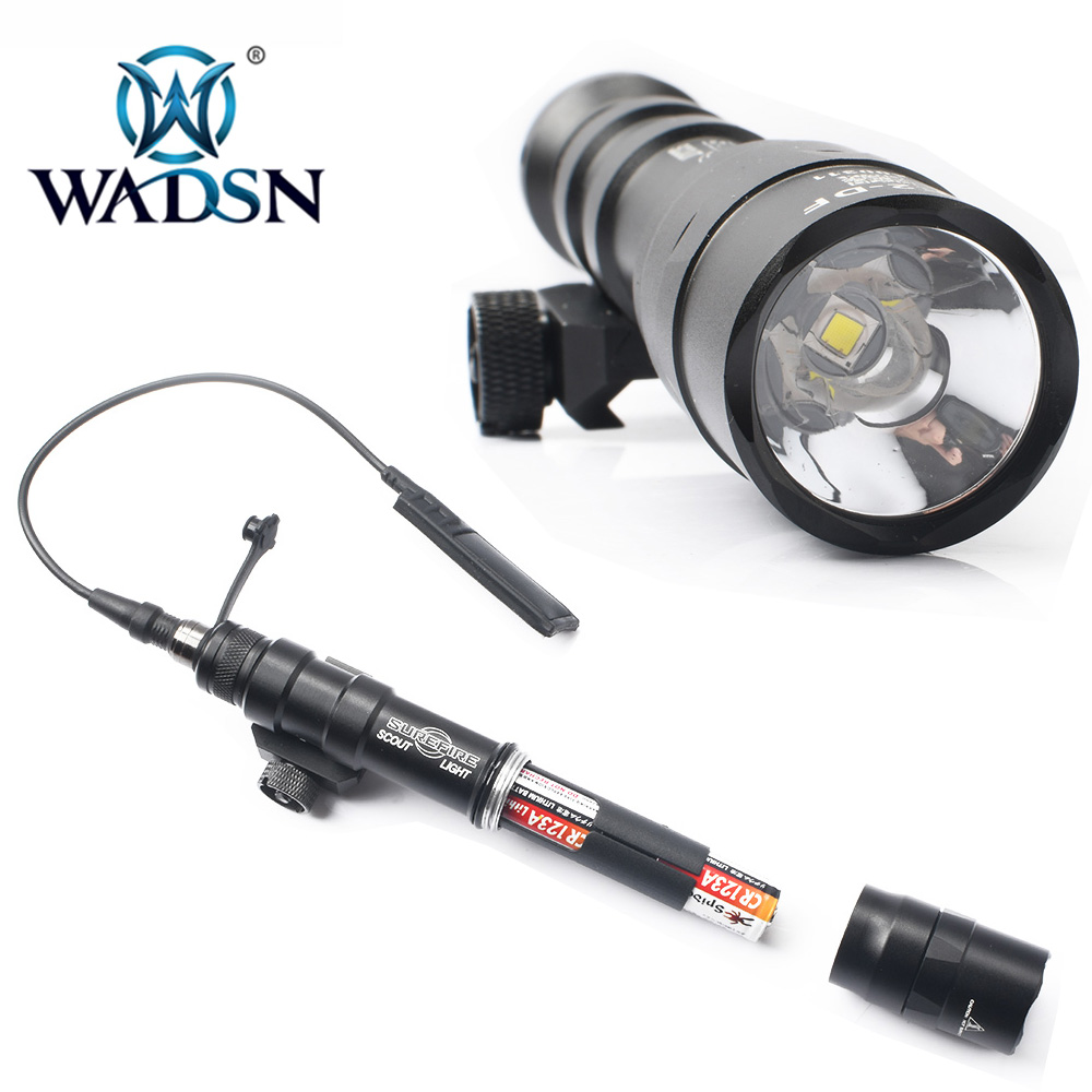 wadsn airsoft surefir m600df duplo combustivel scout luz led 1400lumes tatico caca arma lanterna tocha caber