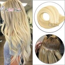 """HiArt 100 г пряди для наращивания, натуральные человеческие волосы для наращивания кутикулы, remy, волосы для салона, пряди для наращивания, двойные нарисованные человеческие волосы, 1"""" 20"""" 22"""""""