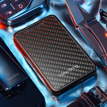 NewBring Slide Wallet RFID Blocking Carbon Fiber Credit ID Card Holder For Men Women Male(China)
