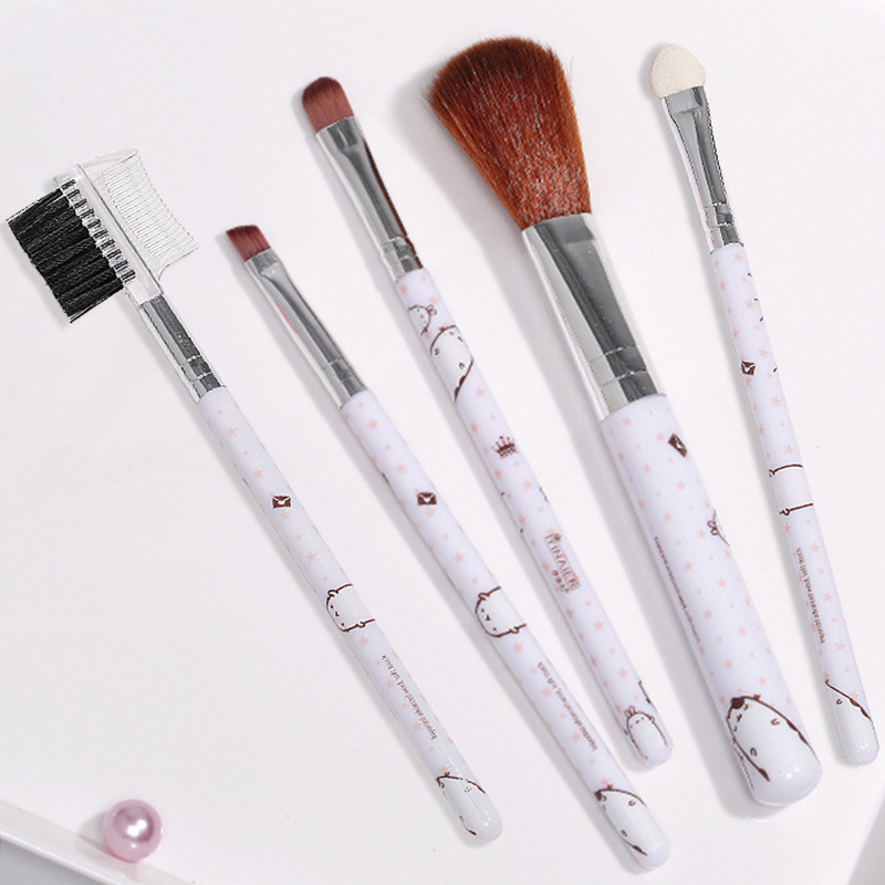 Beauty Tool YINAIER Fashion allurement yan Five Sticks Makeup Brush Set Eyebrows Foundation Eye Shadow Brush Eyebrow Comb image