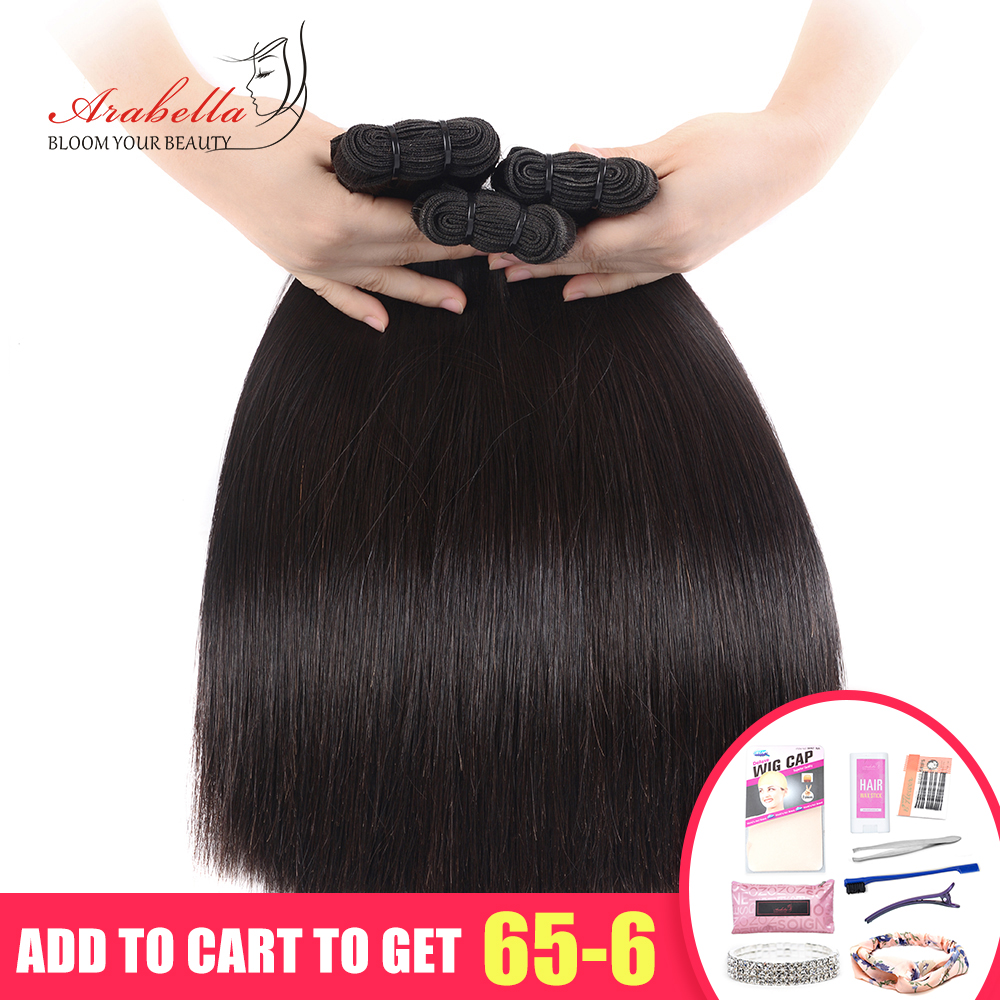 Double Drawn Straight Hair Weave Bundles Vrigin Hair Extension Natural Color Thick Ends Hair Bundles For High Level Customer