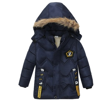 2019 fashion boys winter warm hooded jackets children's wear  garments coats toddler boy clothes kid Mid-Long Cotton coats D20