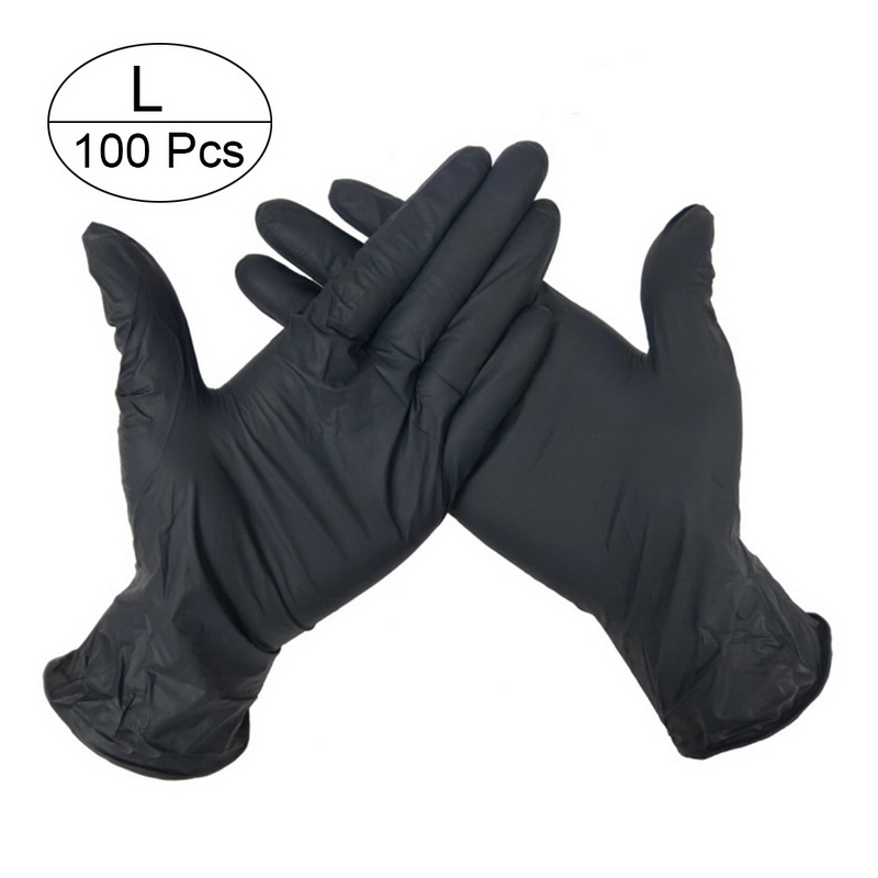 100 PCS Disposable Nitrile Gloves and Multi Purpose Latex Gloves for Virus and Flu Protection 27
