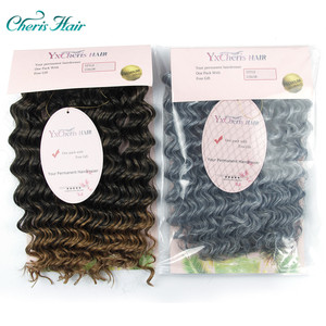 Image 1 - Häkeln Haar Tief Wellig Niedrigen Temperatur Faser 10 Zoll 3 strand/pack Kann Re modell Synthetische Haar zöpfe Häkeln Briads