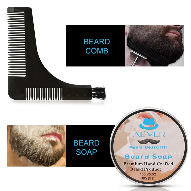7-em-1 barba grooming kit profissional barba aparamento