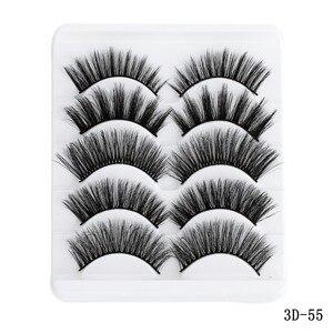 Image 5 - 5 пар в упаковке 5D мягкие норковые накладные ресницы ручная работа пушистые длинные ресницы натуральные инструменты для макияжа глаз Искусственные ресницы