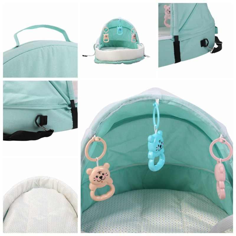 Cama portátil dobrável cama do bebê viagem proteção solar mosquito net respirável infantil cesta de dormir para dropshipper