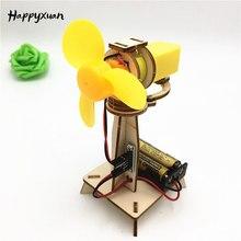 Happyxuan Mini Oszillierende Fan Elektro Pädagogisches Kit Kinder DIY Wissenschaft Spielzeug Experiment mit Motor Mädchen Jungen Kreative Geschenk