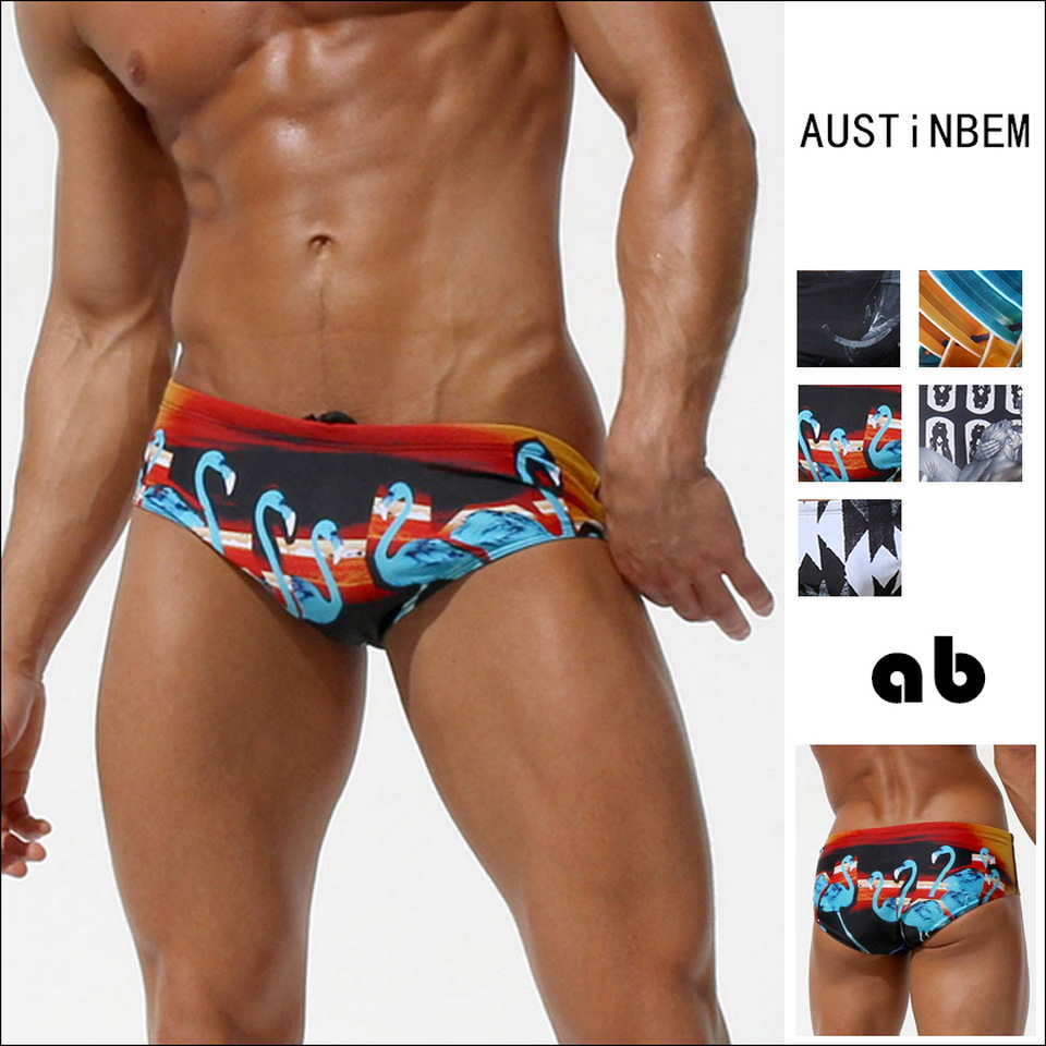 Austinbem AussieBum Triangular Swimming Trunks Fashion MEN'S Swimming Trunks Cross Border Sports Swimming Trunks