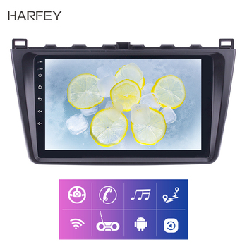 Harfey 2din 9 Inch Android 8.1 Car Radio For Mazda 6 Rui wing 2008 2009 2010 2011-2014 car Multimedia Player GPS Navi Head Unit image