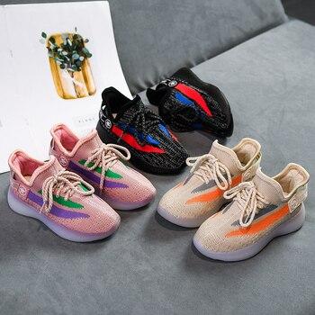 Kids Coconut Sneakers 2020 New Children Casual Shoes Boys Sport Running Sneakers Flying Weaving Girls Mesh Shoes Tenis Infantil