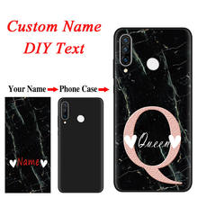 Marble Luxury Custom DIY Name Case For Huawei Y5P Y6P Y8P P40 P30 P20 Lite E Pro PSmart Plus 2019 2020 Honor 9S 8X Silicone Case