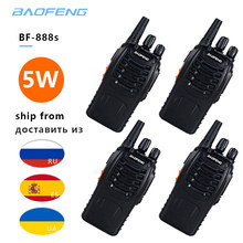 4 pièces/lot Radio bidirectionnelle baofeng BF-888S talkie-walkie double bande 5W poche Pofung bf 888s 400-470MHz UHF radio scanner(China)