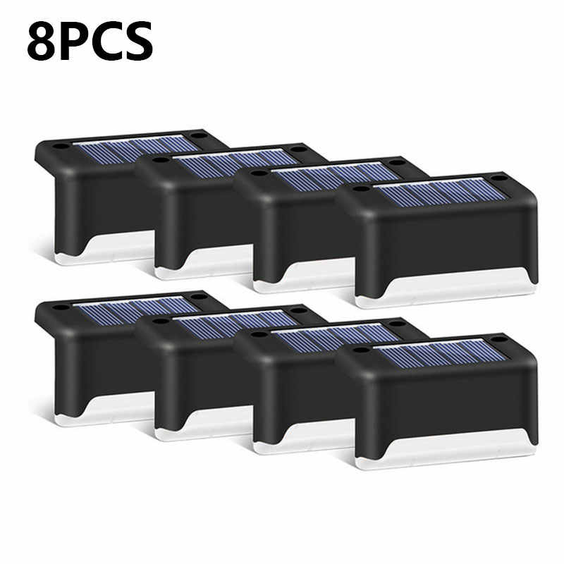6/8Pcs Led Solar Lamp Path Trap Outdoor Waterdichte Wandlamp Tuin Landschap Stap Stair Deck Lichten Balkon hek Solar Licht
