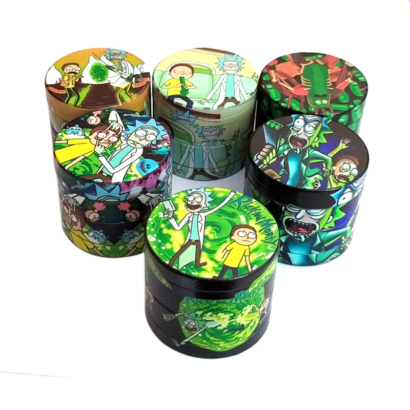 4 Layers Zinc Alloy Dry Herb Tobacco Weed Grinder Smoke Accessories Spice Mill 1pc