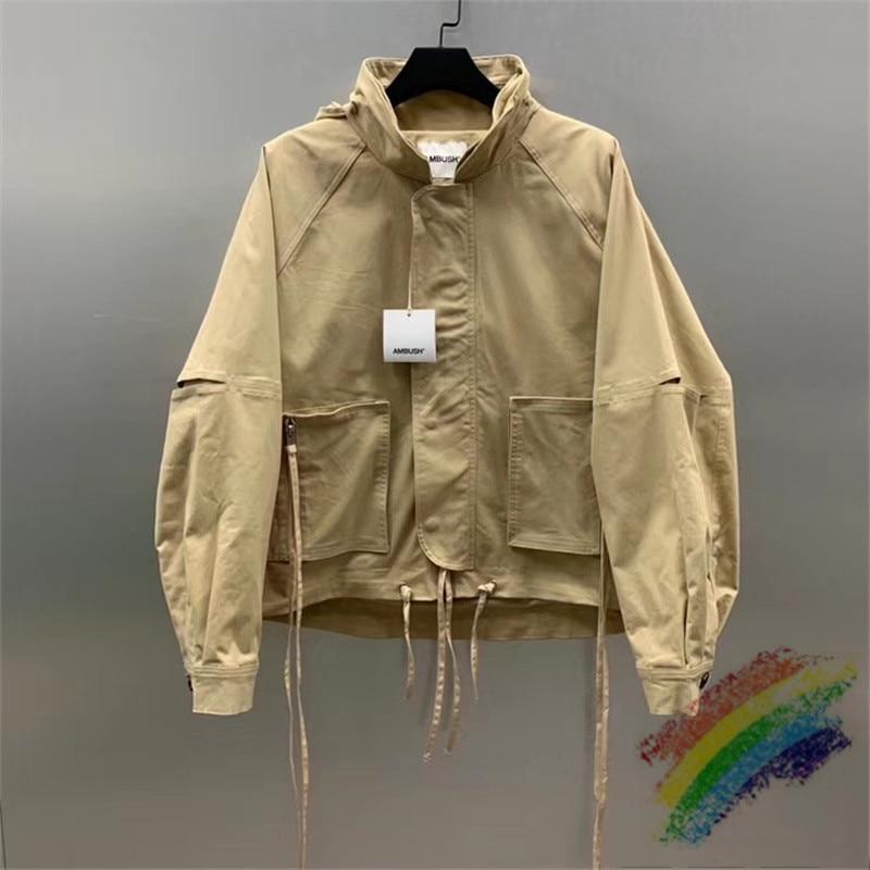 New AMBUSH Jacket Men Women 1:1 High Quality Fashion Casual Windbreaker Khaki AMBUSH Jackets